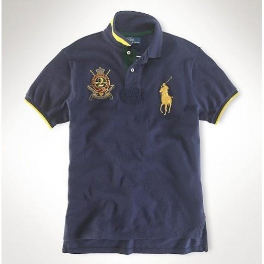 Camisa Polo Azul Escuro Big Pony Ralph Lauren - Cod 0064